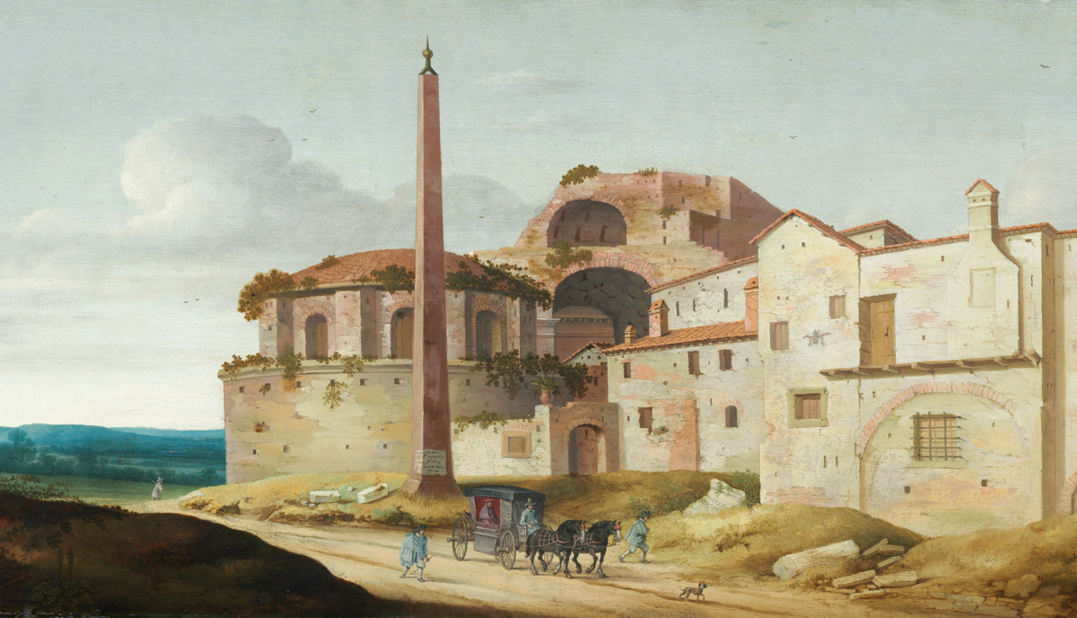 obélisque du vatican dans le passé