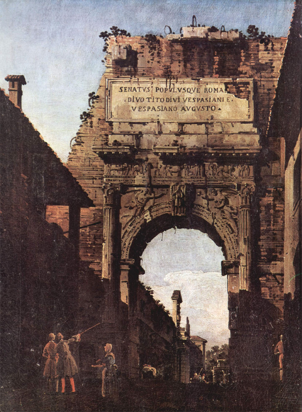 Bernardo Bellotto, L'Arc de Titus (avant sa restauration)