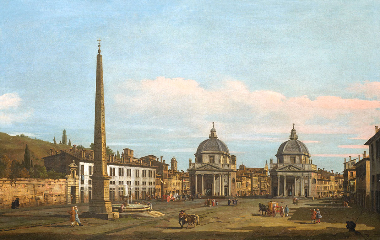 Bernardo Bellotto,La Place du Peuple (1743)