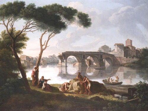 Giovanni Battista Busiri, Le Tibre et le Ponte Rotto
