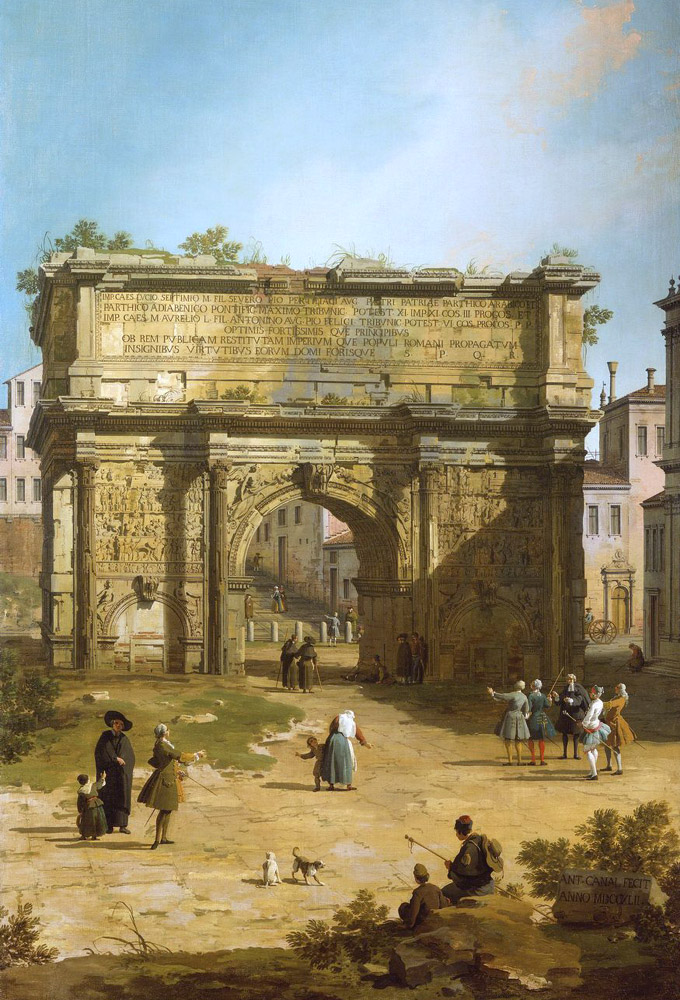 Canaletto, Arc de Septime-Sévère