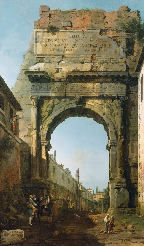 Canaletto, Arc de Titus