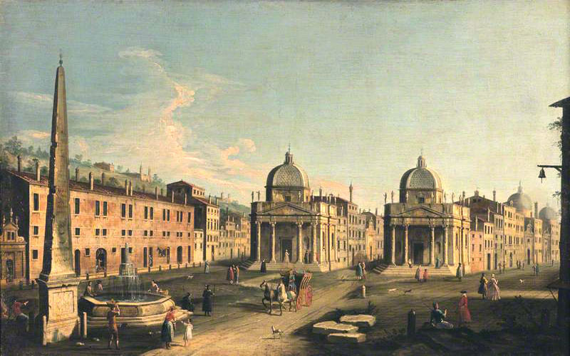 Canaletto,Place du Peuple (1760)