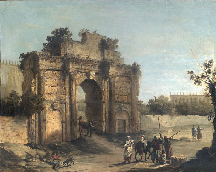 Canaletto, Arc de Septime Sévère