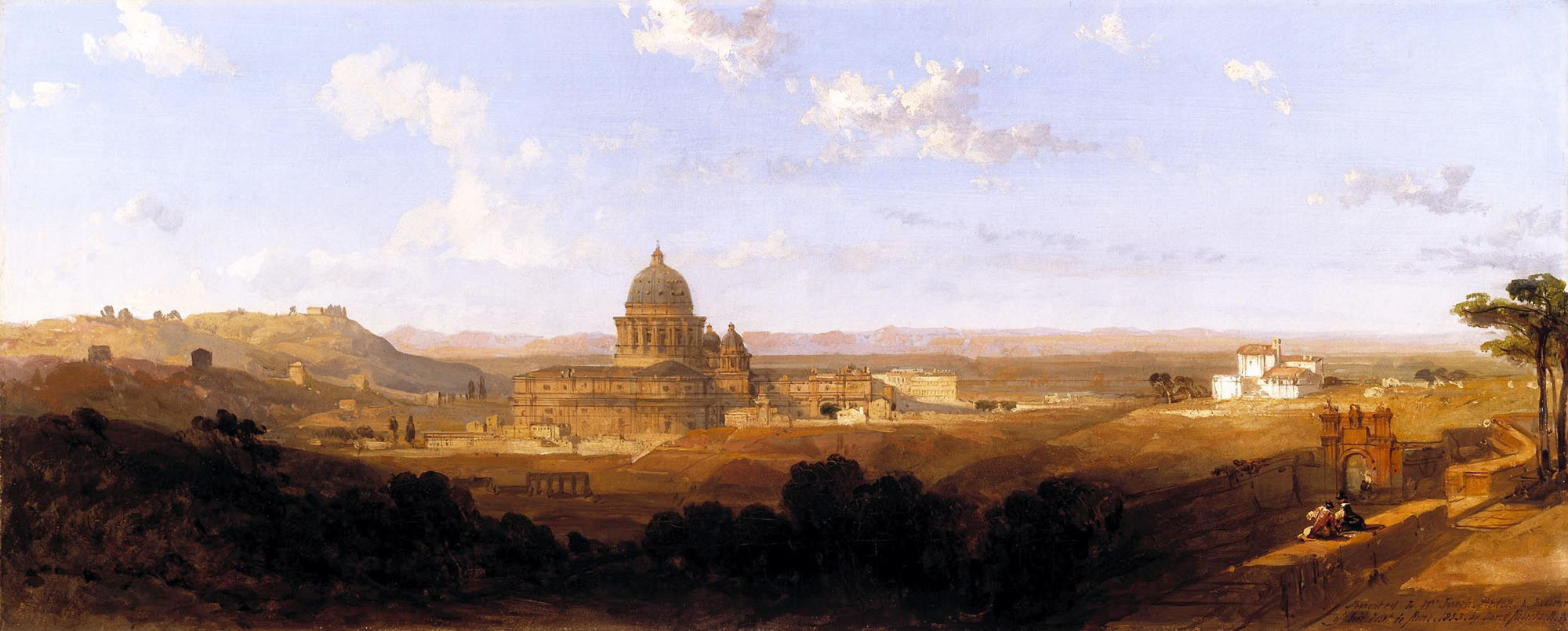 David Roberts,Panorama, Saint-Pierre de Rome (1853)