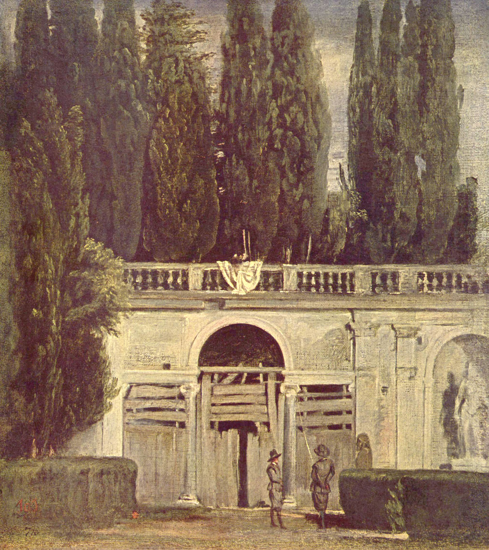 Vues de rome de diego velasquez for Jardin villa medicis rome