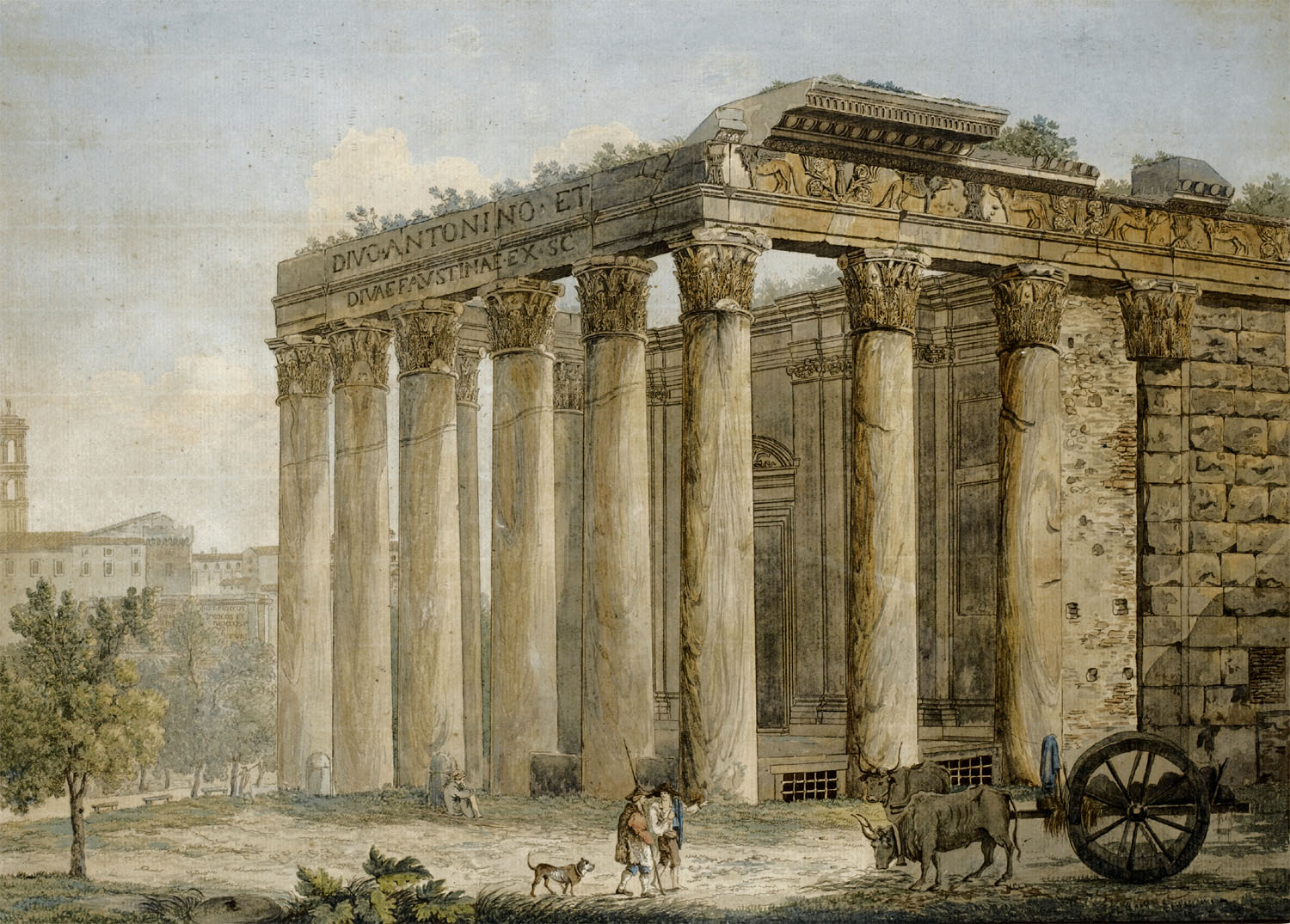 Franz Kaiserman, Temple d'Antonin et Faustine, forum romain