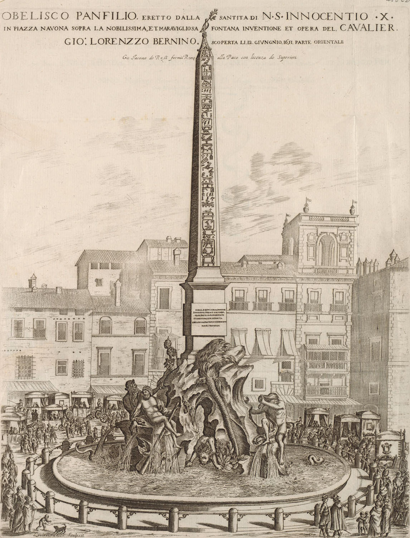 Louis Rouhier, Fontaine Des Quatre Fleuves, Place Navone
