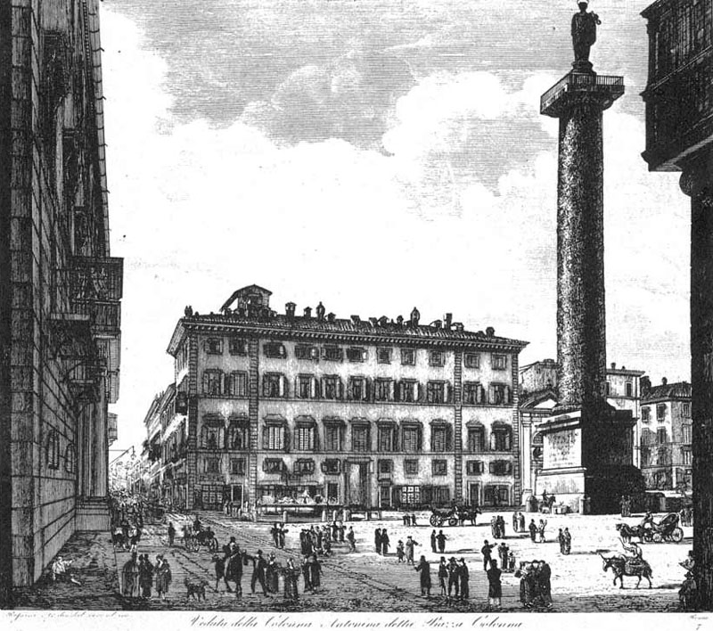 Luigi Rossini,Piazza Colonna (1850)