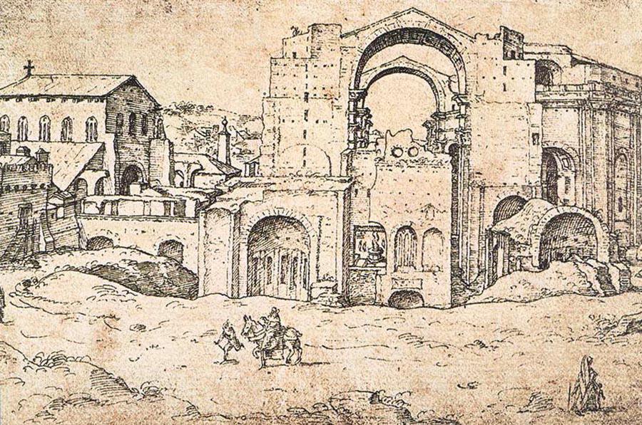 Vues d 39 artistes basilique saint pierre rome for Exterieur basilique saint pierre