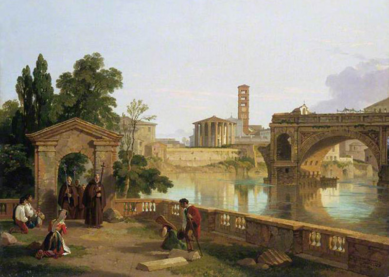 Penry Williams,Ponte Rotto et Forum Boarium (environ 1827)