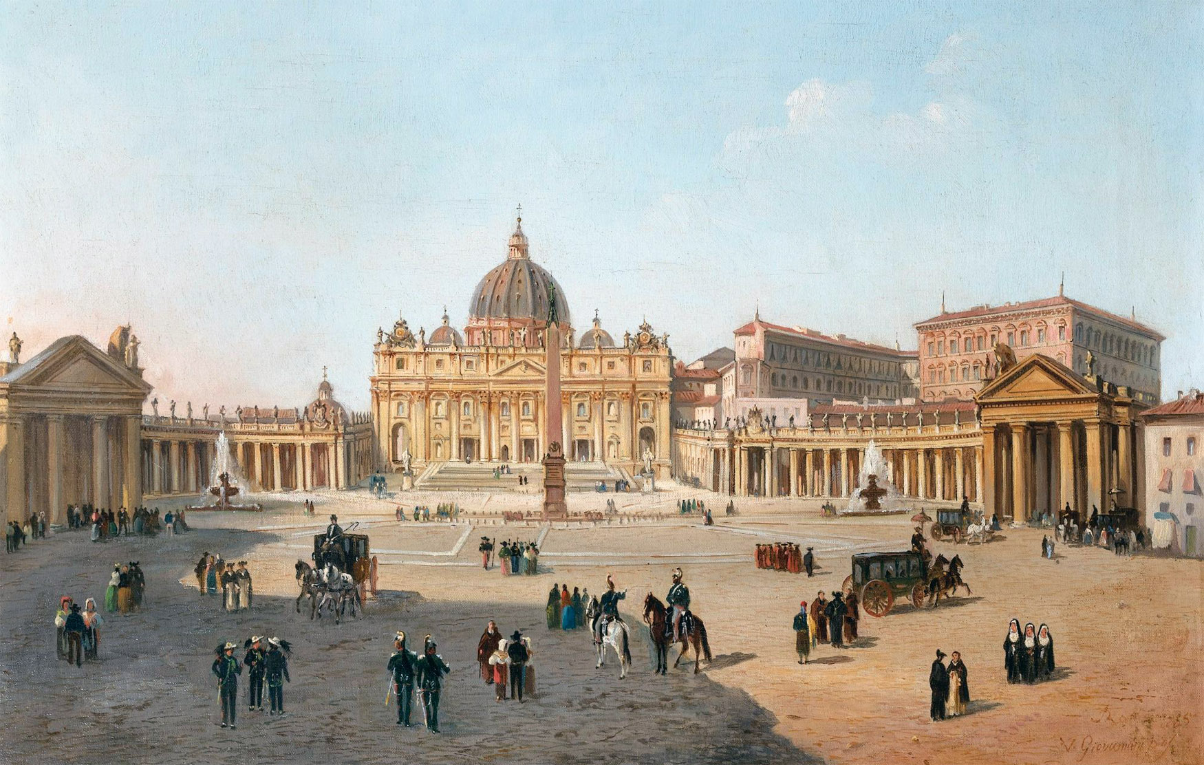 Vincenzo Giovannini,Place Saint-Pierre (1865)