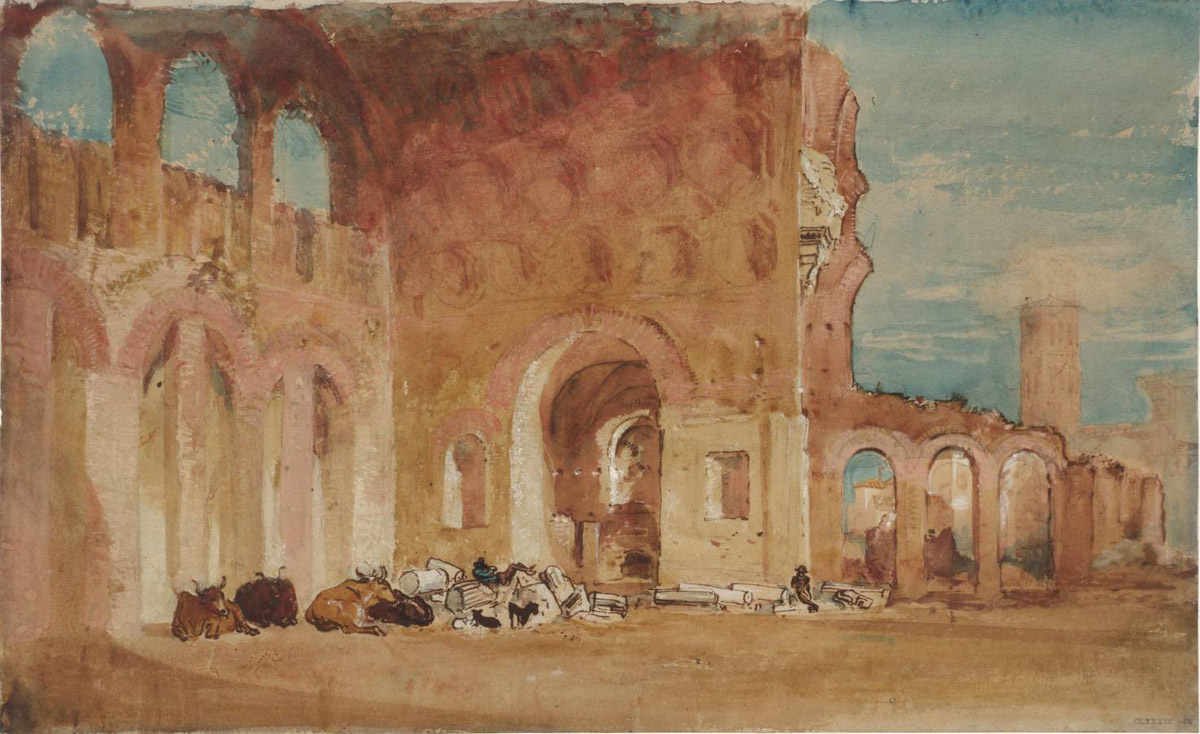 Joseph Mallord William Turner,Basilique de Constantin (1819)