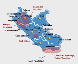 carte environs de rome