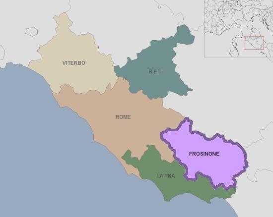 Carte du Latium