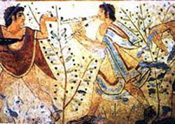 Nécropole étrusque de Tarquinia