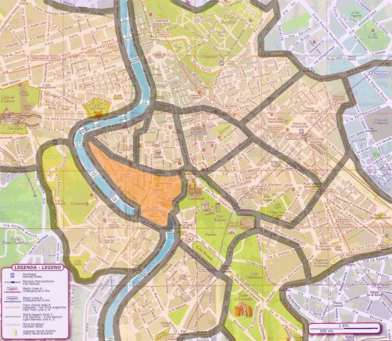 carte quartiers de rome