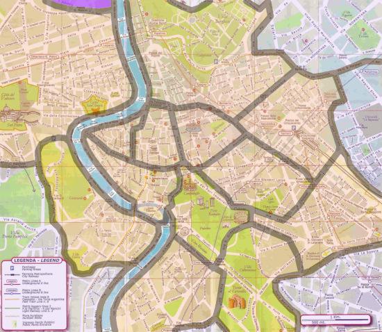 mappa quartieri di roma