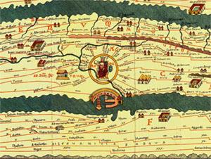 table de peutinger - empire romain