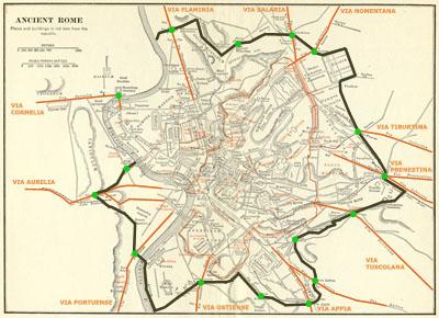 Les voies romaines de Rome