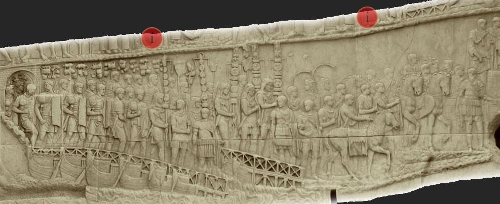 colonne de trajan - légion en marche
