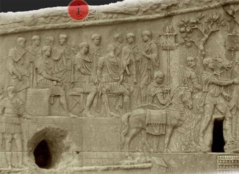 colonne trajane - conseil de guerre