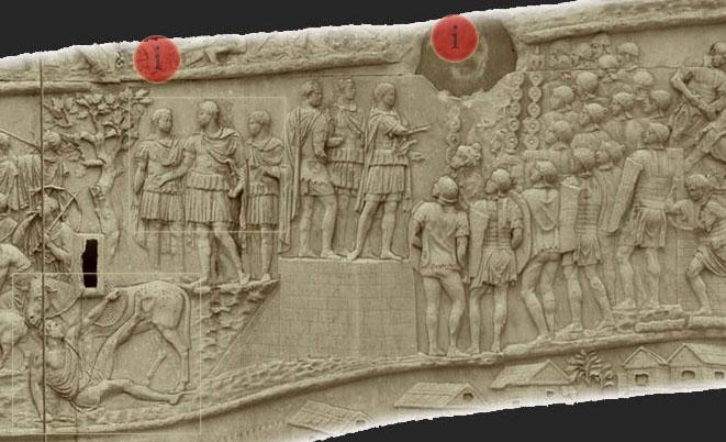 colonne trajane - Messager Bure et allocution de Trajan
