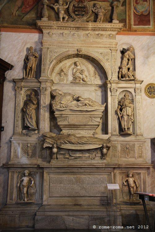 san marcello al corso, Tombe de Giovanni Michiele, Sansovino