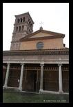 Façade et porche, église san giorgio in velabro