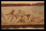 Peinture d'une frise d'une maison de l'Esquilin
