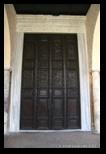 porte en bois antique de Sainte Sabine