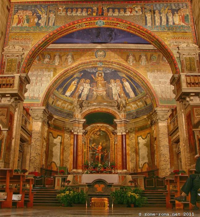 Rome Chrétienne et ses monuments - EUGENE DE LA GOURNERIE - 1867 Basilica_santa_prassede_0002