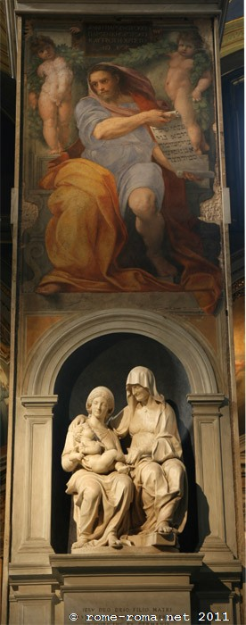 Le prophète Isaïe, Sainte Anne et la Vierge à l'enfant