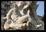 fontaine des quatre fleuves - le gange - piazza navona