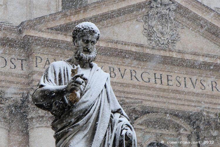 Rome sous la neige