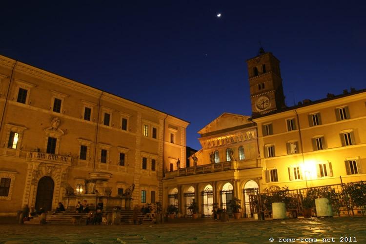 Place Santa Maria in Trastevere