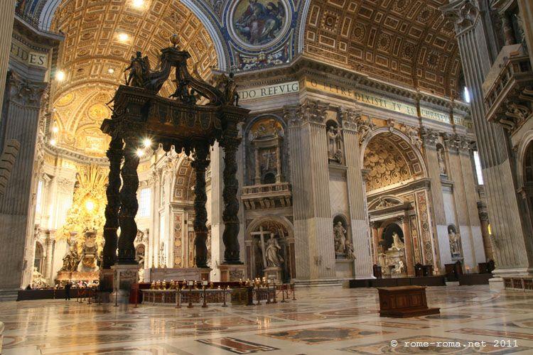 Visite de la basilique saint pierre de rome informations for Exterieur basilique saint pierre