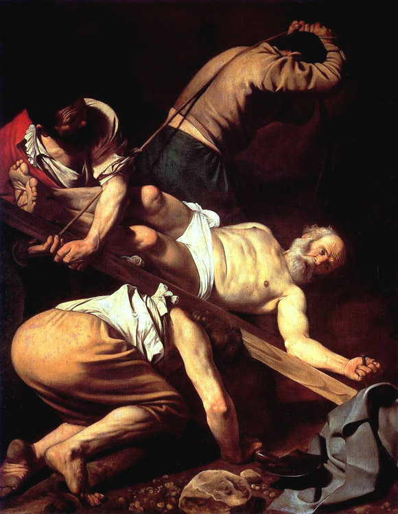 Crucifiement  de saint pierre - caravage