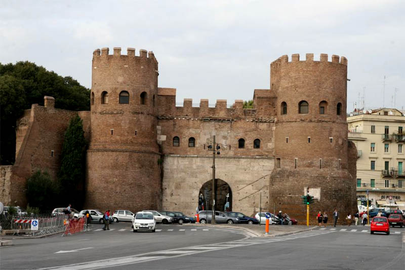 Aurelian walls and gates in rome - Hotel roma porta furba ...