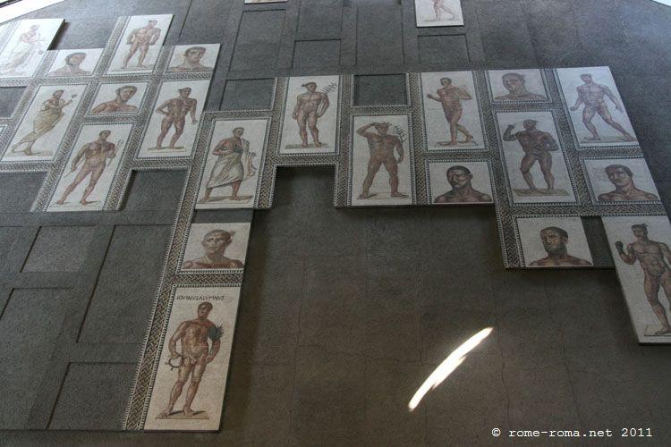 mosaiques du sol des thermes de Caracalla