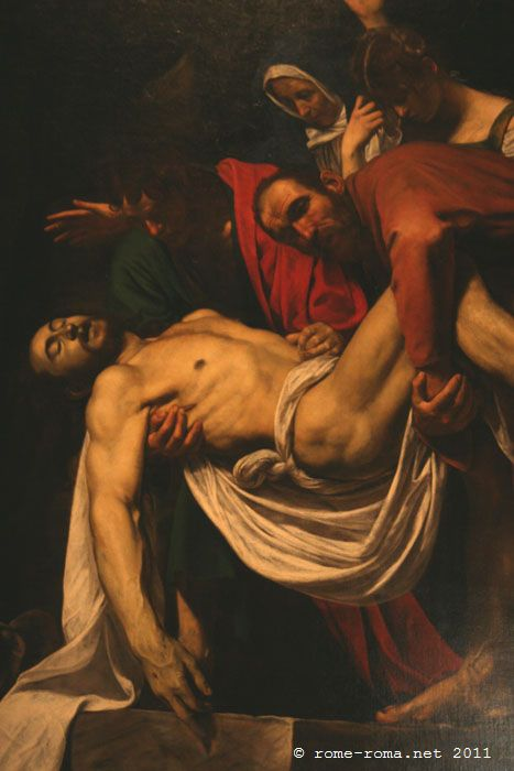 Descente de la Croix du Caravage - vatican