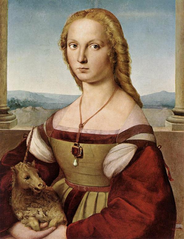 Raphael, Femme à la licorne