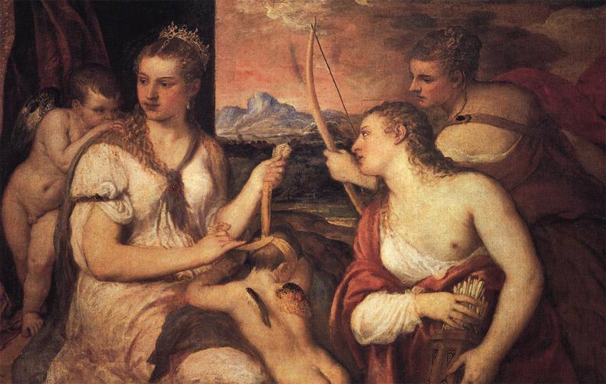 Le Titien, Vénus qui bande les yeux d'Amour