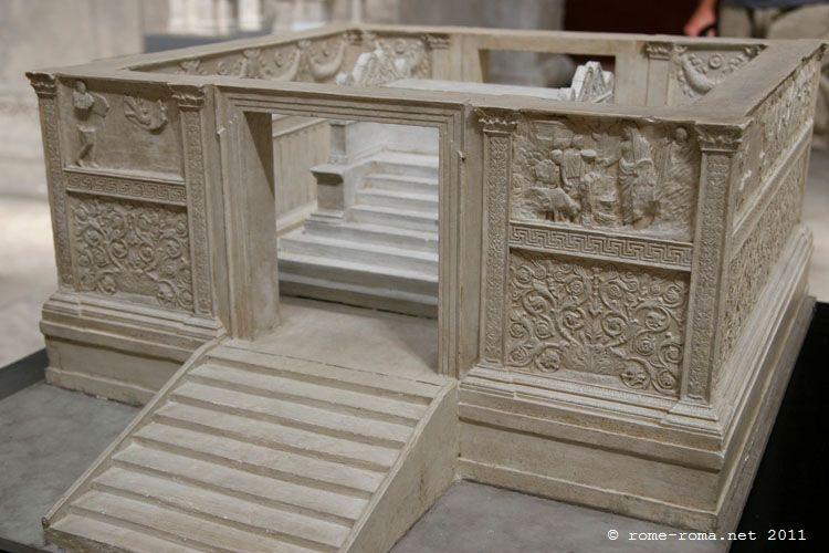reconstitution autel de la paix d'auguste