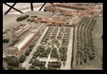 reconstitution, maquette dela villa d'Hadrien