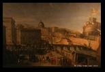 Artista del 17e, corteo papale a ponte sant angelo (1637)