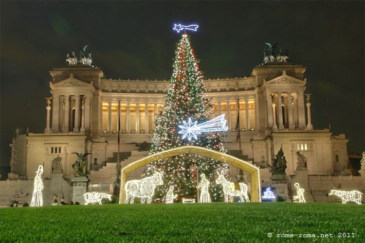 Noel à Rome : Place de Venise
