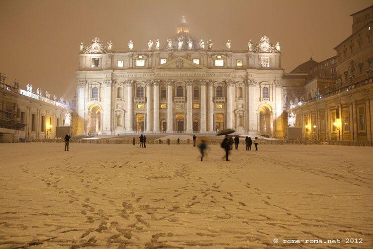 10 et 11 février 2012, neige à Rome