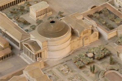 reconstitution du panthéon de rome - maquette