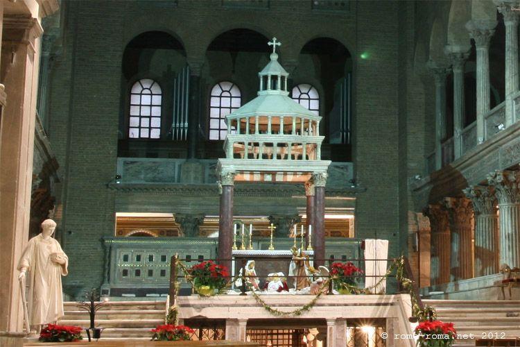 Presbiterio, ciborio - san lorenzo fuori le mura